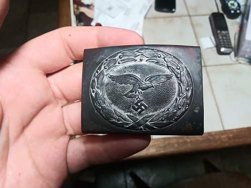 Original or fake luftwaffa buckle steel .B@N marked 41 or 44