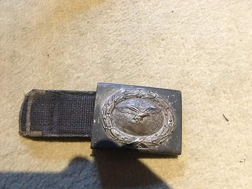 LW Belt and buckle with very interesting unit mark!