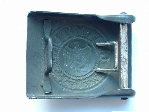 Luftwaffe buckle ID