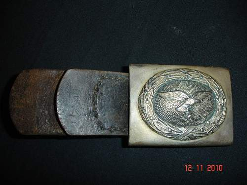 Luftwaffe belt buckle and leather tab - Real or fake?????