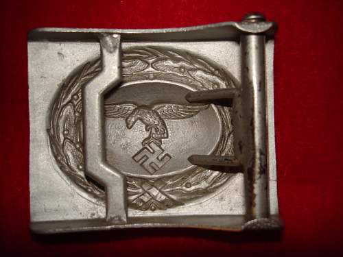Luftwaffe buckles have I done any better on these please.