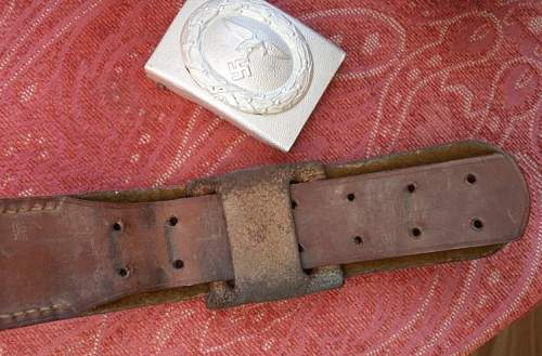 Early Parade Luftwaffe belt and buckle