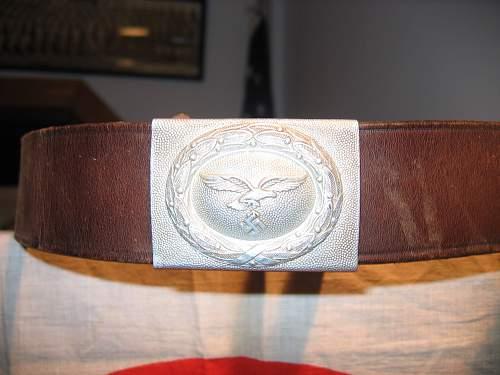 Aluminum Luftwaffe buckle and belt
