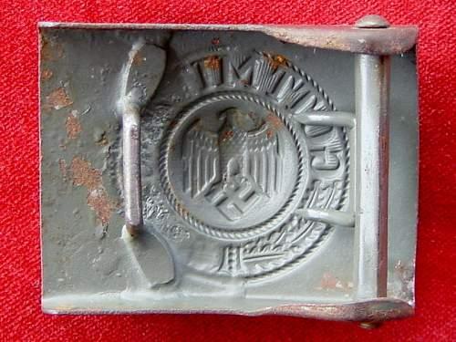 Luftwaffe and Kriegsmarine buckles