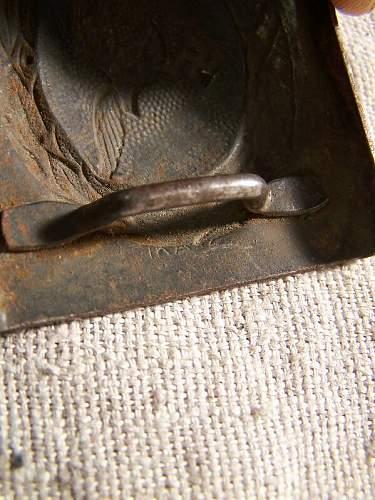 Luftwaffe buckle steel IKA 42 marked