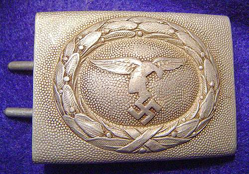 Droop tail Luftwaffe belt buckle for review