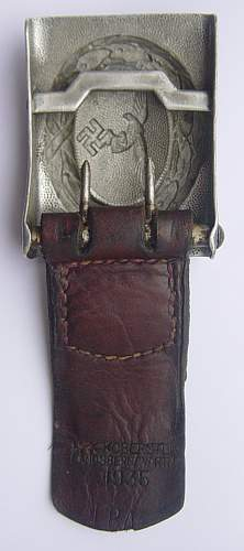 Crank catch Droop tail with leather makers tab:  Need help on this one