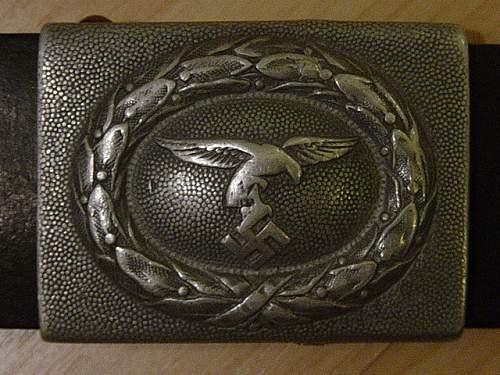 Click image for larger version.  Name:Luftwaffe 1st pattern belt buckle..jpg Views:253 Size:150.2 KB ID:438643
