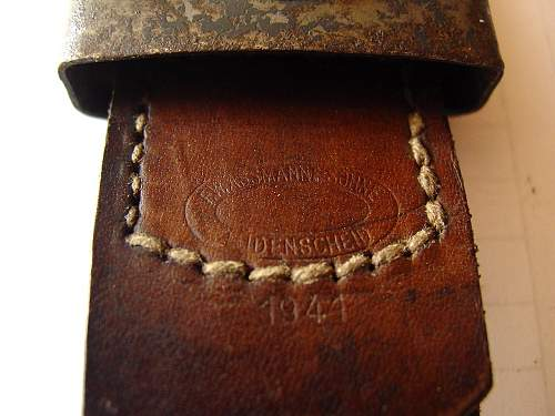 Germinal Belt from 1942--is this real or a reproduction?