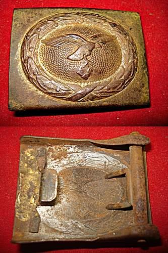 2 Luftwaffe buckles - orginal or repro?