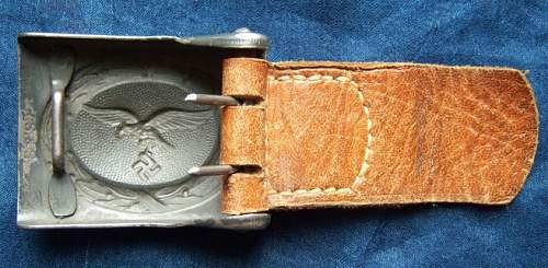 Combat blue luftwaffe buckle