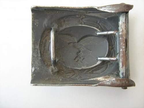 Luftwaffe buckle in steel
