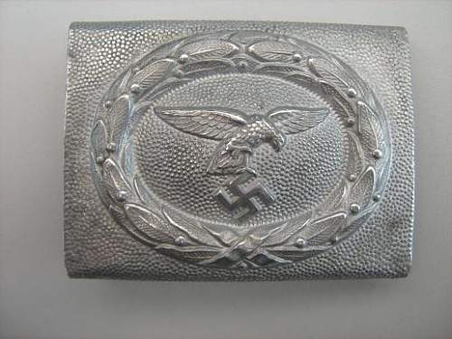Early nickelsiver luftwaffe buckle