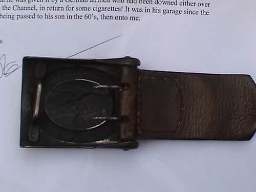Unit marked Luftwaffe belt and buckle