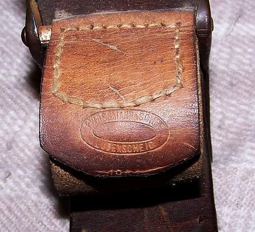 Picked Up My First Luftwaffe Belt!  Assmann Buckle & Gustav Vogel Belt