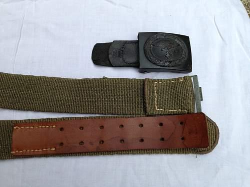 luftwaffe buckle and tropical belt