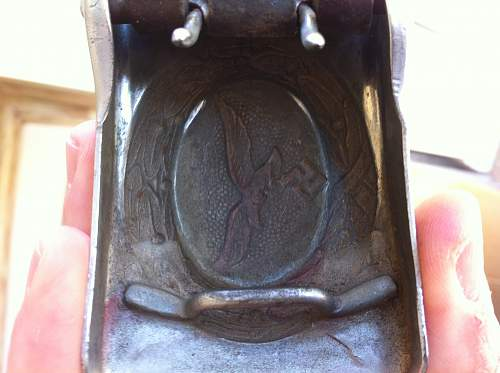 Nickeled Luftwaffe buckle?