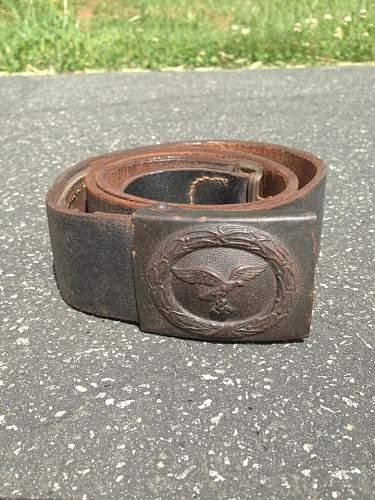Vet Bringback Luftwaffe Belt and Buckle