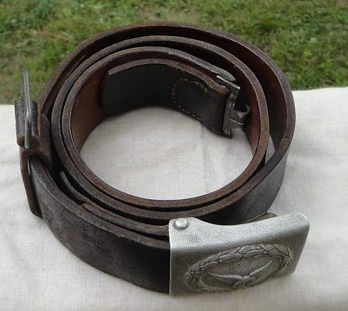 Early RS Luftwaffe Buckle and Belt