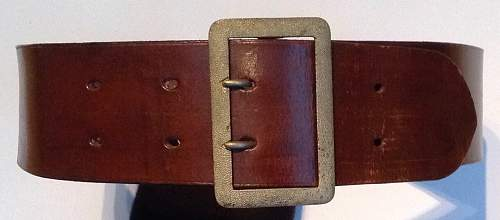 Luftwaffe Officers service belt and two claw buckle