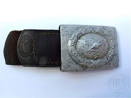 Luftwaffe belt and buckle - Aluminium buckle and keeper for review. Maker?