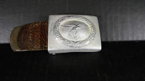 Unit marked Luftwaffe belt buckle 1938