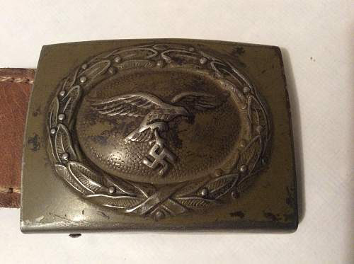 Luftwaffe tropical buckle with tab