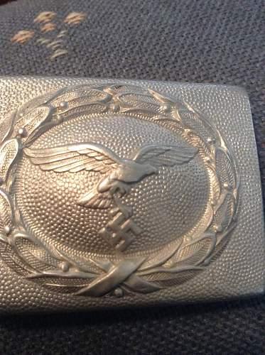 Luftwaffe C.T.D. Aluminum belt buckle ID help