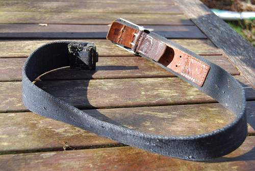 Blue webbed Luftwaffe belt