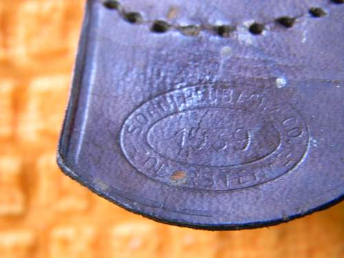 Gold washed Luft buckle?
