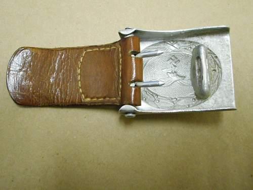 Luftwaffe tabbed buckle