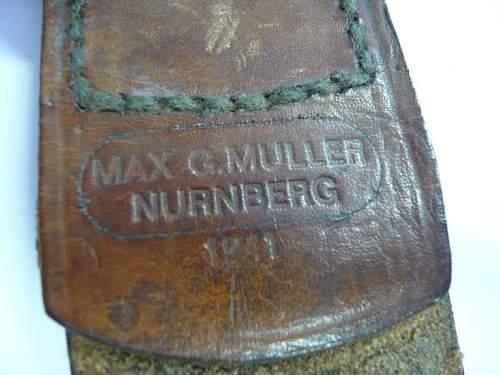 Max Muller Luftwaffe buckle