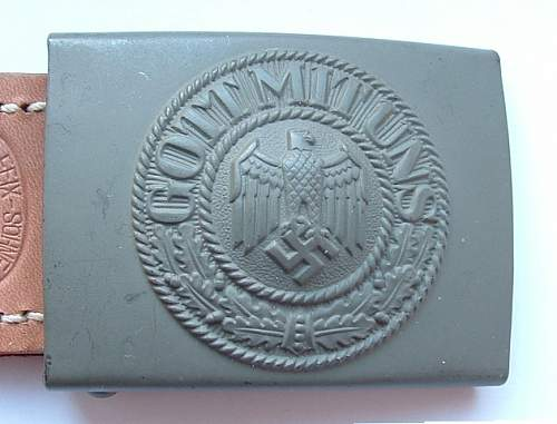 Aluminum Luftwaffe Buckle and Heer Buckle, Marked with Belt Keeper: Authentic/good deal?