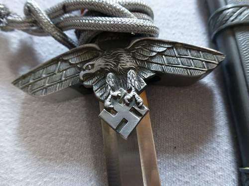Luftwaffe 2nd pattern dagger by Höller & Horster 2nd pattern mini