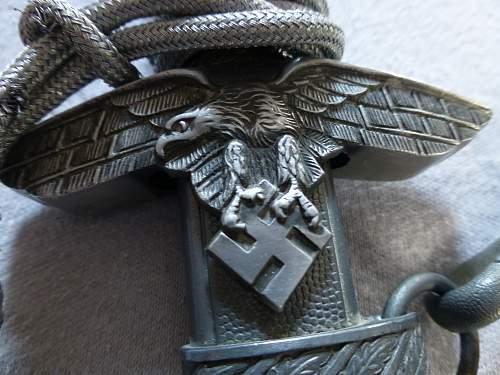 Luftwaffe 2nd pattern dagger by Höller & Horster 2nd pattern mini