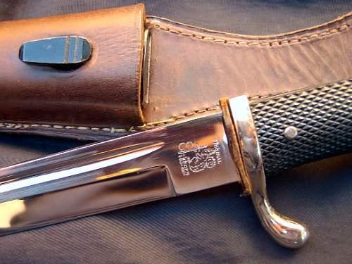 Luft Bayo W/Flak Unit Marked Knot
