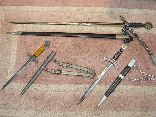 Heer (??) dagger scabbard predicament...on Luftwaffe dagger