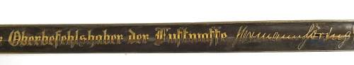 INCREDIBLY RARE Luftwaffe General 1st Pattern Goering Presentation Sword**** HELP