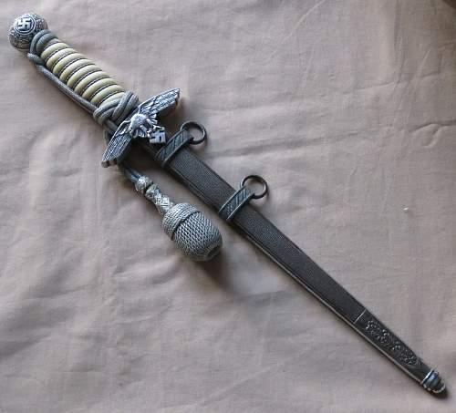 2nd Model Luftwaffe Dagger by Paul Weyersberg &Co