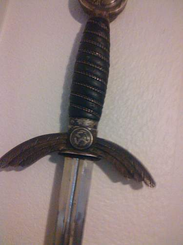 Luftwaffe Officer's sword by E.F. Horster Question