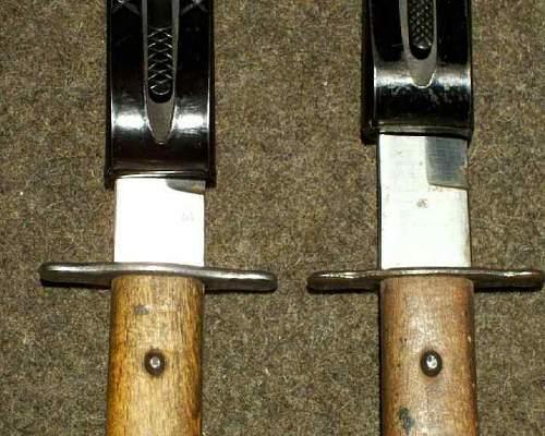Luftwaffe L code fighting knives