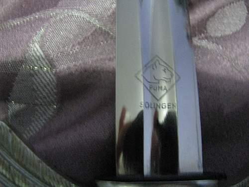 Luftwaffe sword made by Puma