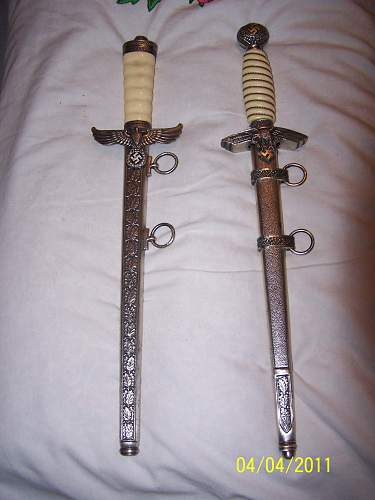 Real or repro Daggers?  A Luft & another it appears.