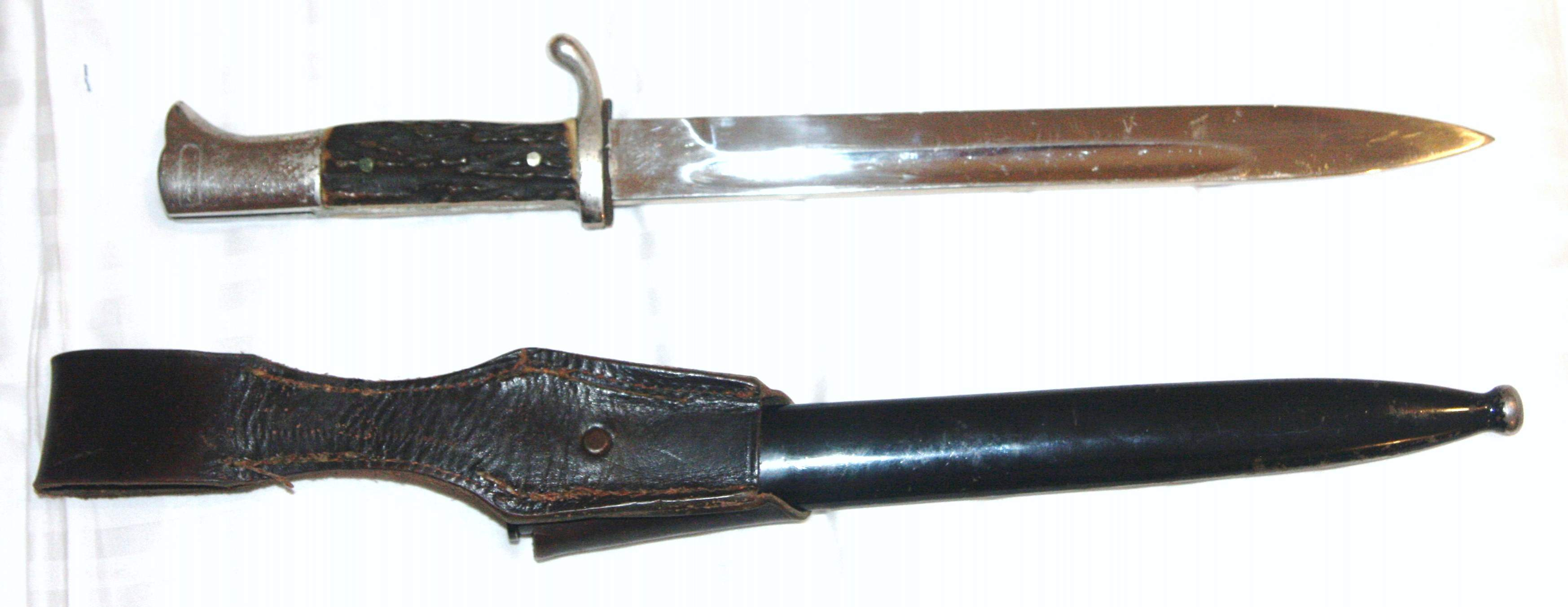 Wwii German Dlv Dagger And Army Stag Handle Dress Bayonet