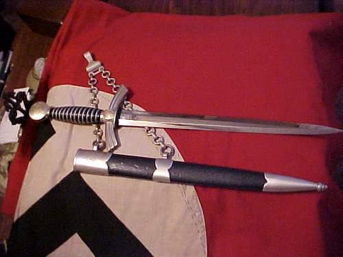 Personalized 1st pattern Luftwaffe dagger