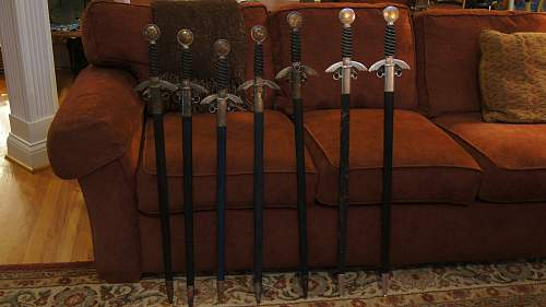Who has been hoarding all the Luftwaffe swords?