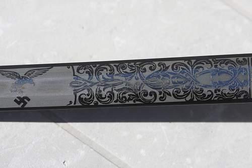 Etched Blade Pumacher Luftwaffe Dagger