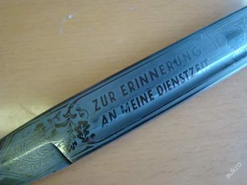 Luftwaffe etched dress bayonet - opinions need