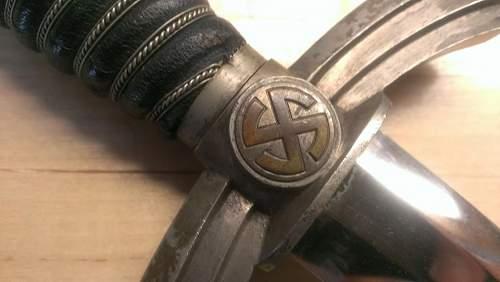 1st pattern luftwaffe dagger help