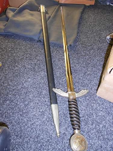 Early Luftwaffe sword by David Malsch